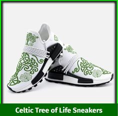 These beautifully designed sneakers are inspired by Irish and Celtic heritage with a modern twist whilst also incorporating the Celtic Tree of Life with our own style. Designed by our design team, the flowing lines and Celtic Tree of Life and Celtic Knot are what we are all about here at Urban Celt. These are only available here and not sold in shops.  Like all our products these sneakers are custom-made-to-order and handcrafted to the highest quality standards. Celtic Tree Of Life, Celtic Knot, Irish, Custom Design, Shops, Slip On, Footwear, Urban, Unisex
