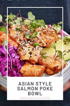 Gf Recipes, Fish Recipes, Seafood Recipes, Asian Recipes, Cooking Recipes, Healthy Recipes, Salmon Poke Bowl Recipe, Poke Recipe, Easy Salmon Recipes