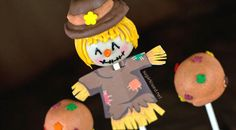 Scarecrow Thanksgiving Cake Pops | Cookie Connection