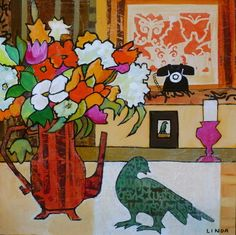 Call Me - Linda Bell   Collage Artist