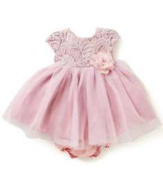 Pippa & Julie Baby Girls Newborn-24 Months Lace-Bodice Tutu Dress