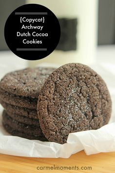 {Copycat} Archway Dutch Cocoa Cookies - DIY Just as delicious without the crappy preservatives! So yummy!