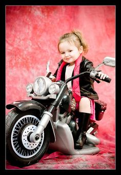 toddler on motorcycle