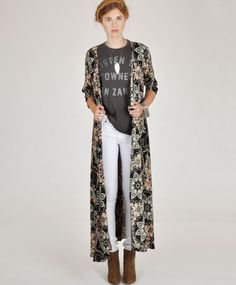 Love the graphic tee and duster!