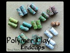 Polymer Clay Endcaps - YouTube