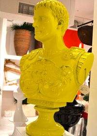 The bust of Caesar in a bold chartreuse hue. (The Phillips Collection)