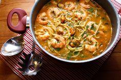 O Meu Tempero: Esparguete (Sem Gluten) Com Camarão, Mexilhão E Am...