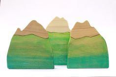 wooden mountain toy
