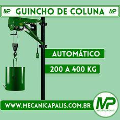 Guincho de Coluna automático, 200 a 400Kg Confira esse e outros produtos em nosso site Acesse já: www.mecanicapalis.com.br
