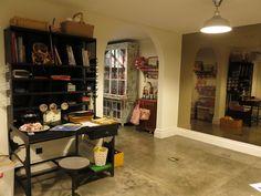 workshop steel table floor