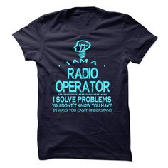 RADIO OPERATOR T-Shirts, Hoodies. CHECK PRICE ==► https://www.sunfrog.com/No-Category/RADIO-OPERATOR-58250305-Guys.html?id=41382
