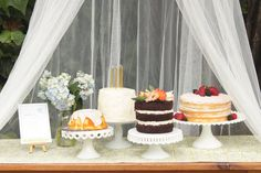 enchanting layer cakes. | 4th birthday fairy party