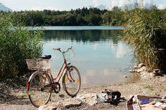 Bicycle, lake.