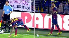 Barcelona's Dani Alves takes bite out of racism, soccer world backs him up on social media. MORE: http://foxs.pt/1ixBe4F