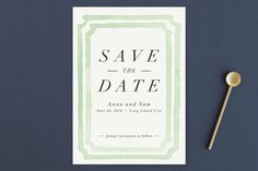 """""""Watercolor Frame"""" - Save The Date Magnets in Coral by Laura Condouris."""