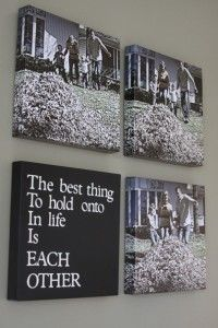 canvas pictures & quotes