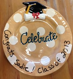 Celebrate plate with an add-on velcroed on so you can change the occasion. plus you can write on the rim with a dry erase maker to personalize it.  sc 1 st  Pinterest & Black u0026 White Celebrate Plate- a special plate for special occasions ...