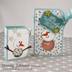 Stampin Up Snowman Tic-Tac and Tealight Holder