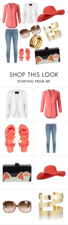"""""""my style"""" by b-boogaard ❤ liked on Polyvore featuring River Island, LE3NO, Melissa, Frame, Edie Parker, Monsoon, Étoile Isabel Marant and Bulgari"""