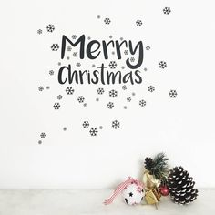 Personalisable Block Font Christmas Wall Stickers