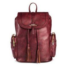 Women's Faux Leather Backpack Handbag Bordeaux - Mossimo Supply Co.™ : Target  / Bag