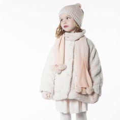 CARREMENT BEAU Manteau en fausse fourrure fille beige - Kids around