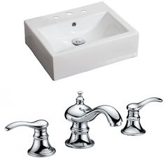 Rectangle Vessel Sink with Overflow