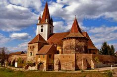 Private Tour of Transylvania from Bucharest in Romania Europe Sibiu Romania, Romania Bucharest, Building Silhouette, Sacred Architecture, Place Of Worship, City Buildings, Kirchen, Travel Around The World, Barcelona Cathedral