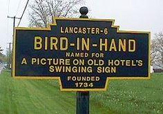 Bird in Hand, Pennsylvania