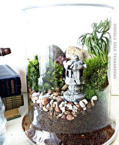 Nice SALE Japanese Garden Terrarium With Miniature Path By DoodleBirdie