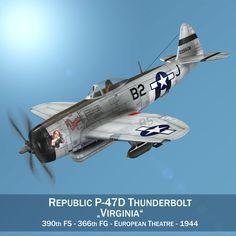 3D Model Republic P 47D Thunderbolt - 3D Model