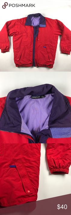 Vintage Large Patagonia Puffer Jacket Red Some stains on the inside and some small ones on the back shoulder. Stains on the inside don't show at all when zipped up Patagonia Jackets & Coats Puffers