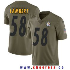 Men's Pittsburgh Steelers #58 Jack Lambert Olive 2017 Salute To Service Stitched NFL Nike Limited Jersey