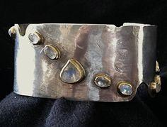 Moonstone Cuff Bracelet (via Etsy) <> (jewelry)