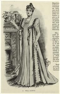 A tea-gown. (1898)  Illustrated London News