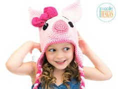 Hey, I found this really awesome Etsy listing at https://www.etsy.com/listing/101641964/pattern-pinky-piggy-hat-crochet-pdf