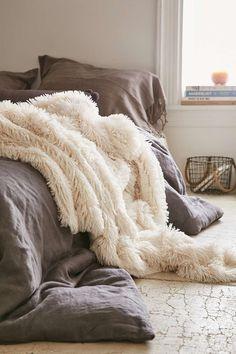 Cream Faux Fur Throw Blanket                                                                                                                                                                                 More