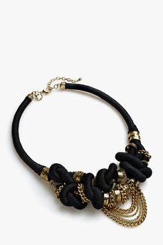 Collar nudos cadenas - collares | Adolfo Dominguez shop online
