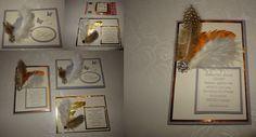 """Manchmal gibt es auch traurige Anlässe, bei denen man mit einer handgefertigten Karte sein Beileid bekundet. Auch wenn es um """"nur"""" Bekannte und deren Familienangehörige geht. Hier ein Beispieltext mit Blumengeld für einen späteren Grabschmuck. Stampin up SU Trauerkarte Beerdigung Trauer Text Schiefergrau Vanille Flüsterweiss Gold Kupfer Federn Federkarte Schmetterlinge Beileid Stempelset Mit tiefstem Mitgefühl 125297"""