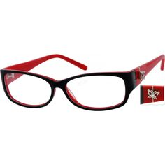 An acetate full-rim frame with designed on temples.