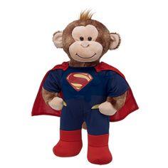 Cheerful Monkey in Superman Costume - Build-A-Bear Workshop US $35.00
