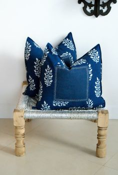 Indian Hand block Print Throw Pillows Cushion by ShopBlockprint