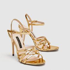 d1d6c5023a9d 7 Best Gold strappy sandal images