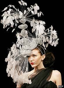 Now this wacko hat was made for the runway!