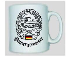 Tasse Panzergrenadier der Bundeswehr / mehr Infos auf: www.Guntia-Militaria-Shop.de