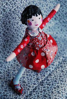 Papier-mâché doll by Susan Mentrak