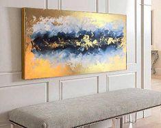 Acryl-Malerei, abstrakte Malerei, GOLD Gemälde, Handmade, Leinwand, Original-Gemälde, große Gemälde, Acryl abstrakt, Acryl-Kunstwerk