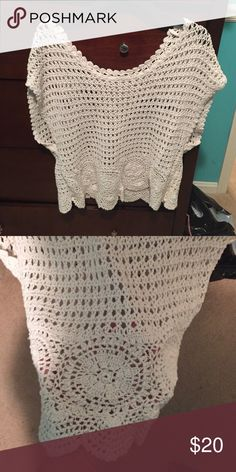 top crotchet top, mint condition-worn once, loose fit American Eagle Outfitters Tops