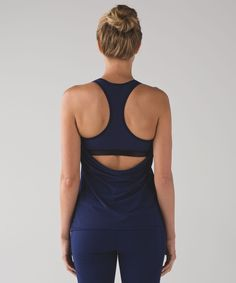 Are you ready to sweat? This lightweight mesh tank was designed with a built-in bra and a draped, open back that lets your body breathe. The built-bra is made from sweat-wicking Luxtreme® fabric and is intended to provide light support for a B/C cup.