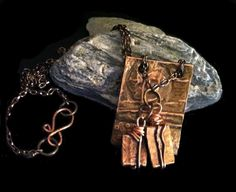 Earthy Copper & Polymer Necklace Handcrafted by EarthyByDesign